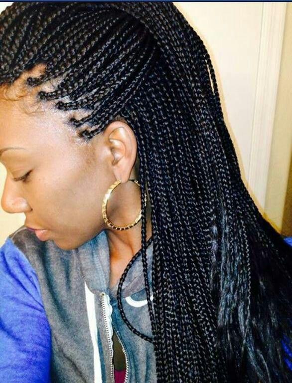 Small Box Braids African Hair Braiding Salons Box Braids Hairstyles Box Braids Styling