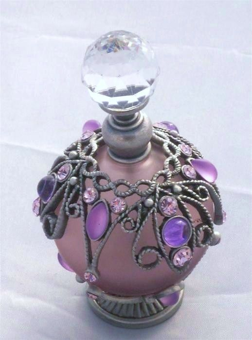 Lilac perfume bottle