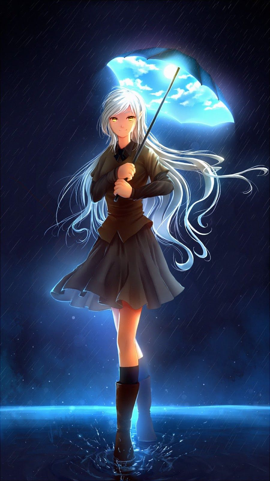 Pin On Mobile Wallpapers Anime magic iphone wallpaper