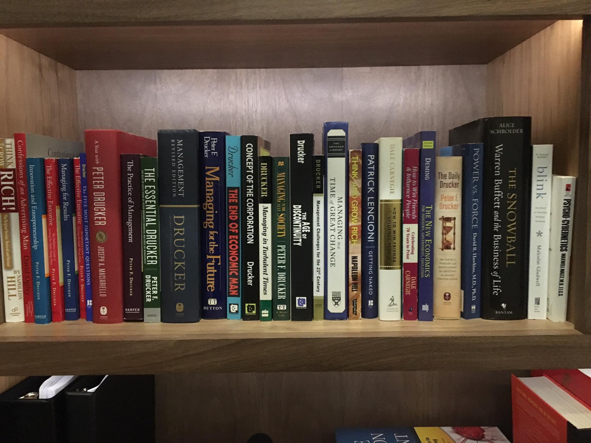 Bookshelf of a millionaire good books bookshelves home