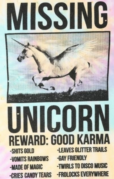 Missing Unicorn Funny haha \ weird! Pinterest Unicorn poster - missing poster generator