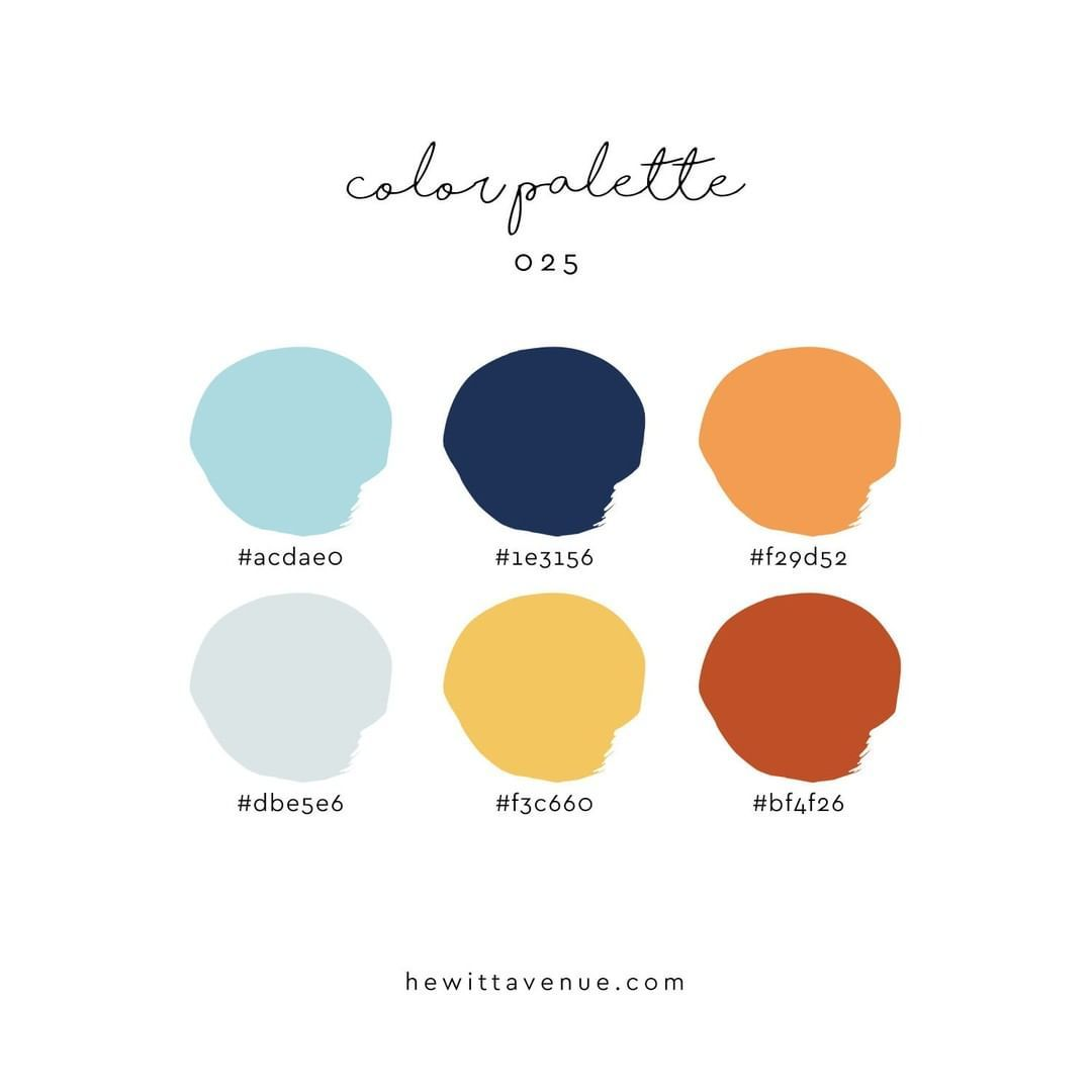 @hewittavenue posted to Instagram: New color palette! Say hello to Color Palette 025. I'm loving this for our August color palette! It's throwing off some major summer vibes. // You can use this color palette any way you'd like - a personal project, commercial or client use, *almost* anything (just don't copy the exact palette and sell it, please)! // How to get this into @procreate? You have options! From here, just screenshot the image and import it into the app. If you hop on my CPC (Color Pa #colorpalettecopies