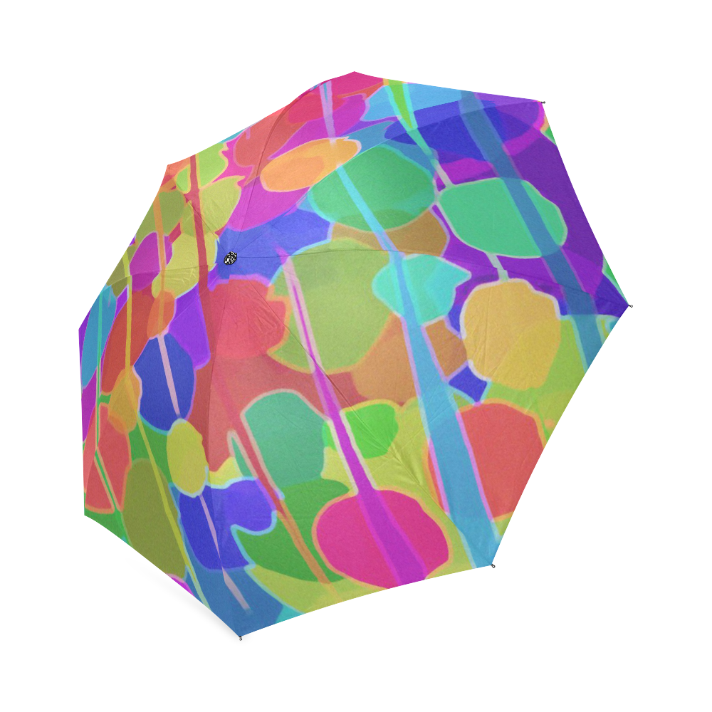 Holiday Ornaments Modern Colorful Abstract Art Foldable Umbrella.