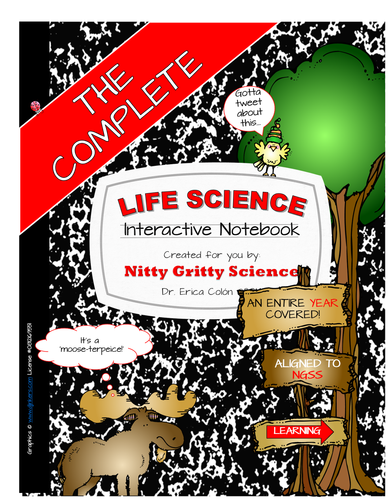 It's finally here!! The Complete Life Science Interactive Notebook that covers an
