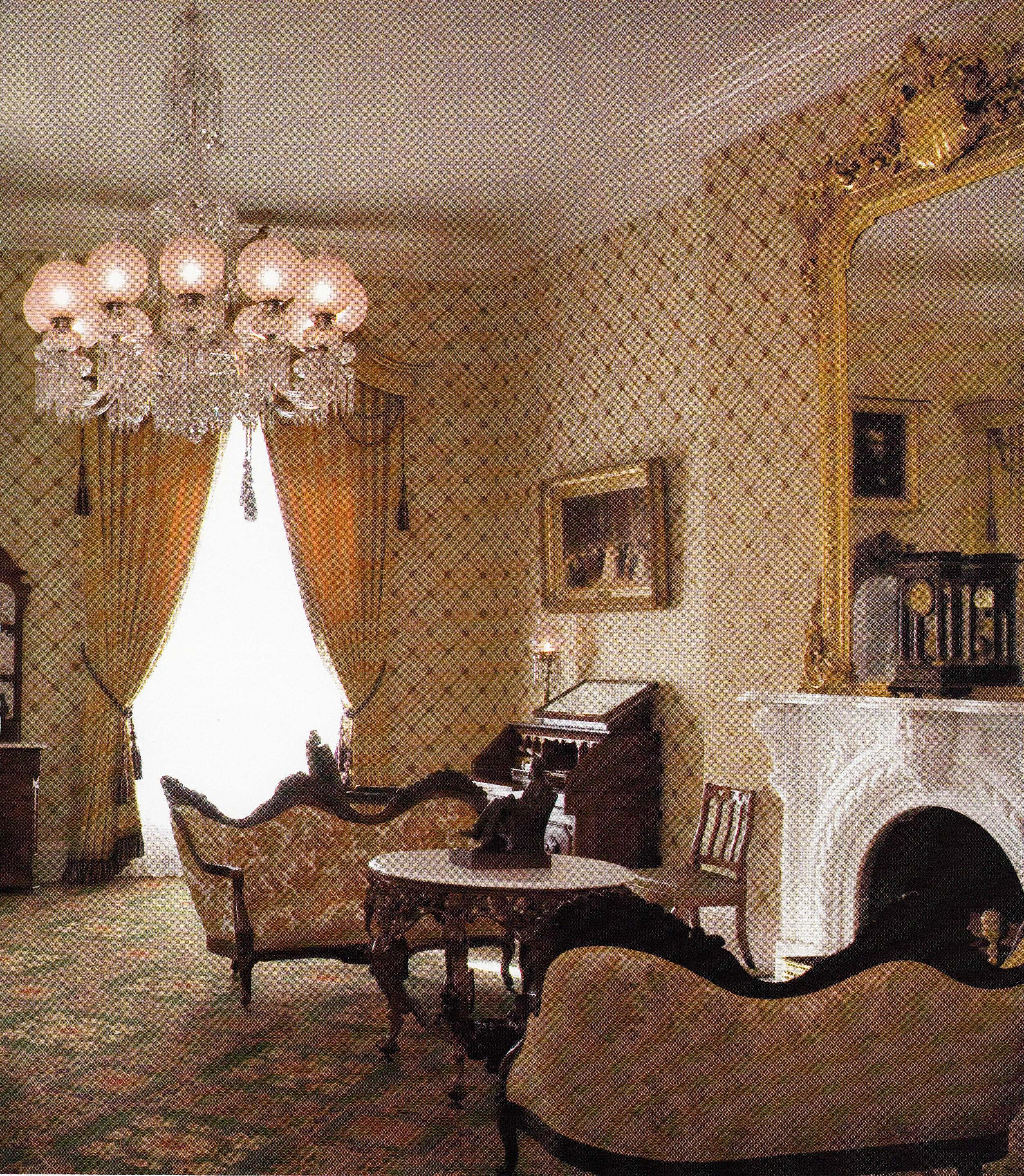 Lincoln Bedroom In The White House Lincoln S Office During The Civil War Interior Home Canopy Bed Curtains