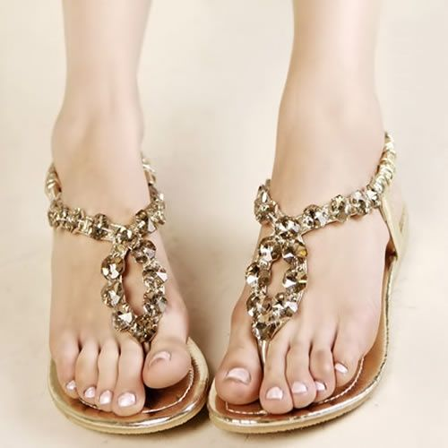 Gold Boho Fashionable Flat Beach Wedding Bridal Party Evening Sandals Shoes You Would Look So Cute In These