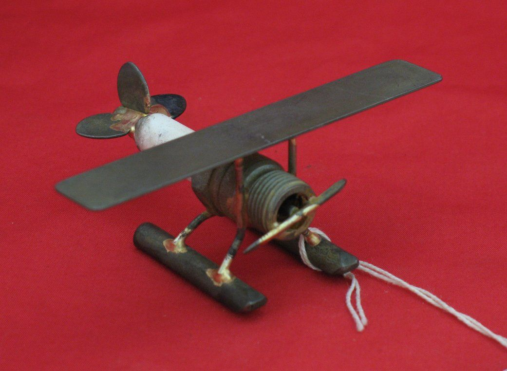 Spark Plug Plane On Floats Recycled Metal Art Spark Plug Heavy Metal Art