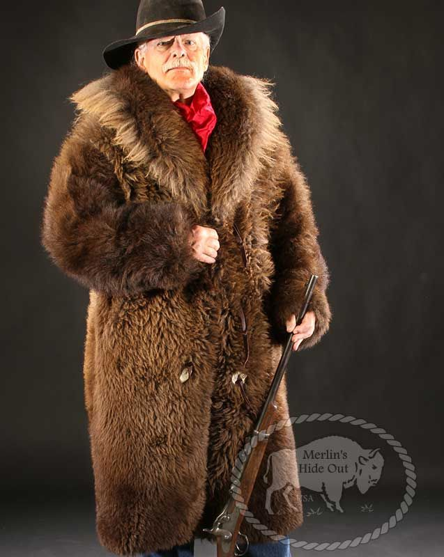 07bba16af5c Buffalo Fur Coat by Merlin s Hide Out