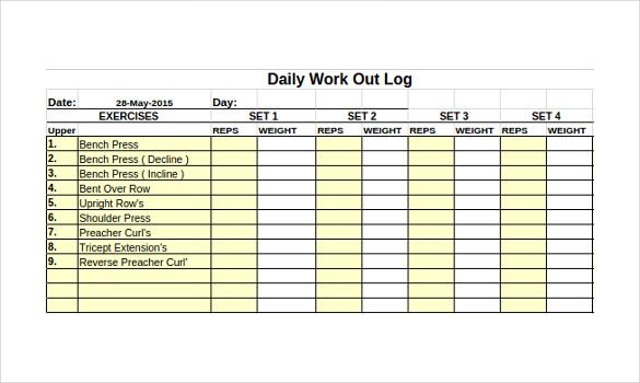 24 Workout Schedule Templates With Images Workout Calendar