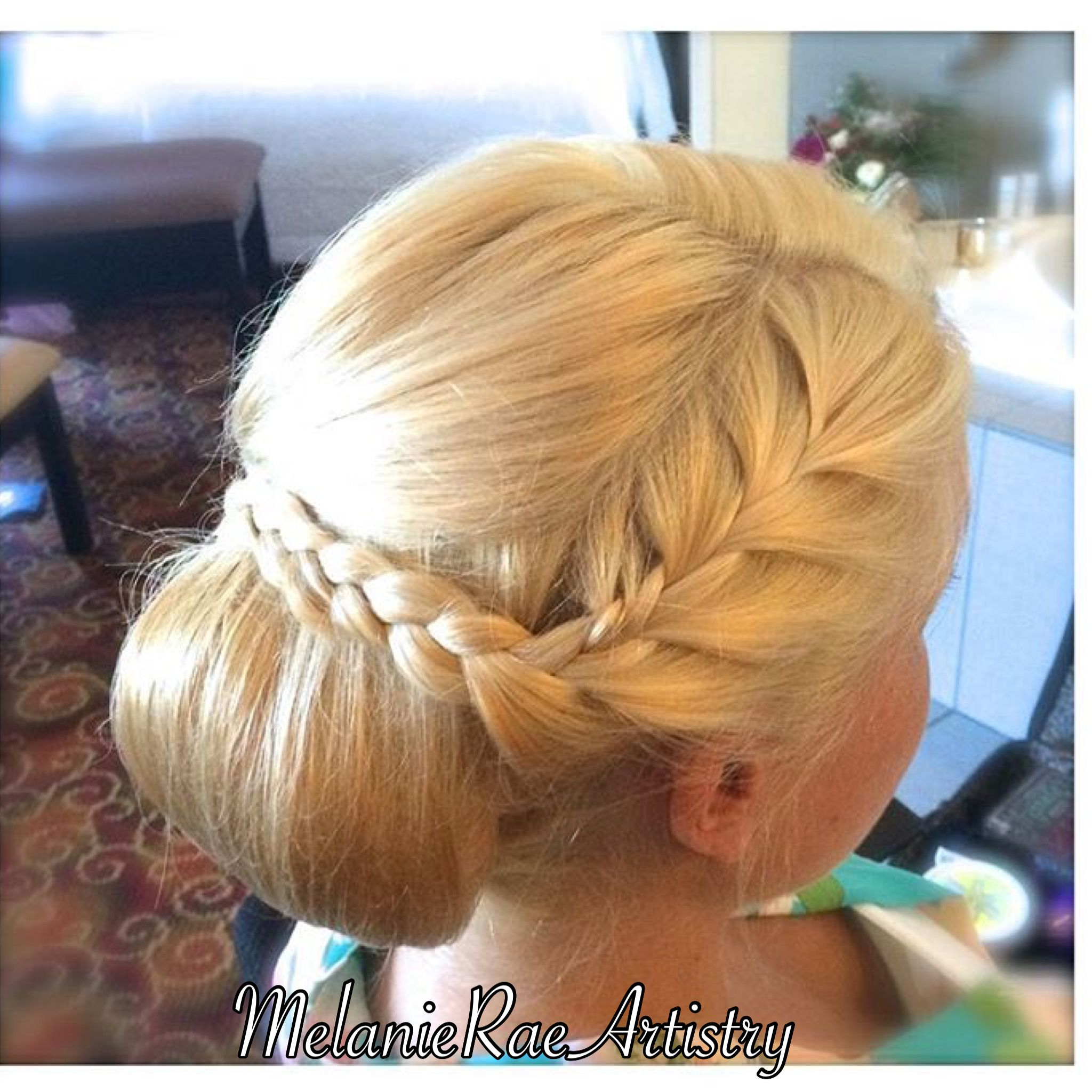 Braided updo bun hairstyle south jersey bridal hair and makeup
