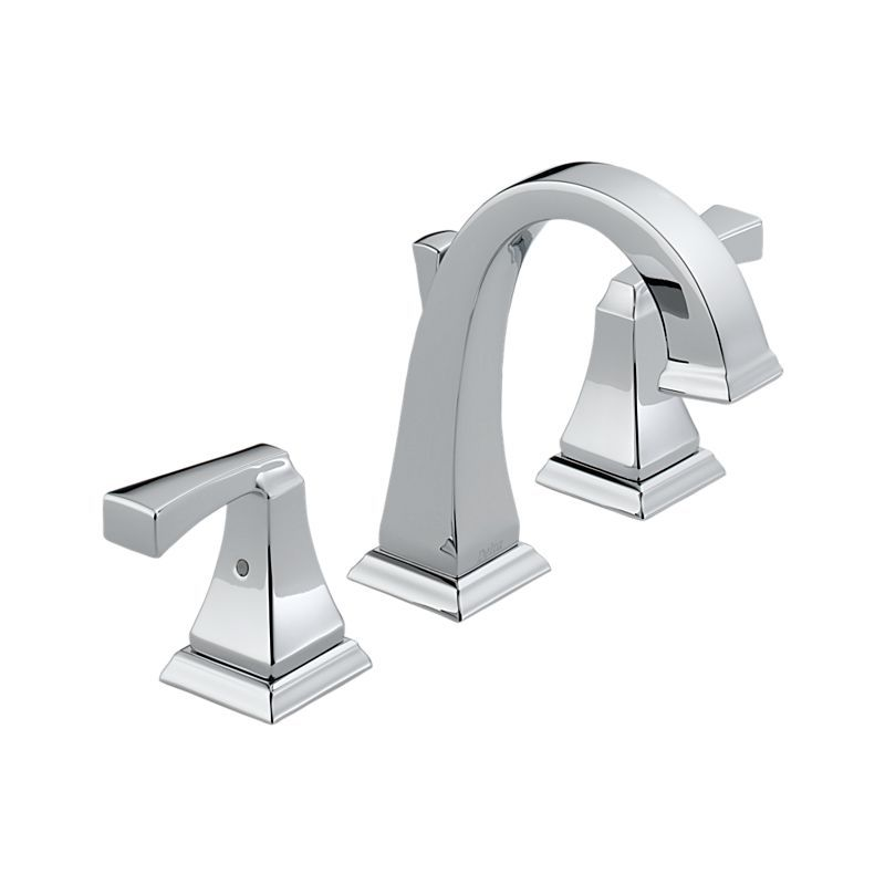 LF Dryden Chrome Two Handle Widespread Lavatory Faucet Bath - Delta bathroom products