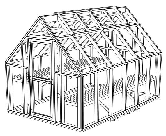 8 X 12 Greenhouse Plans Printed Version Greenhouse Plans