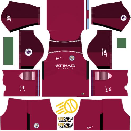 Kits Manchester City Dream League Soccer 2019 2018 2017 Uniformes Soccer Mejores Camisetas Manchester City