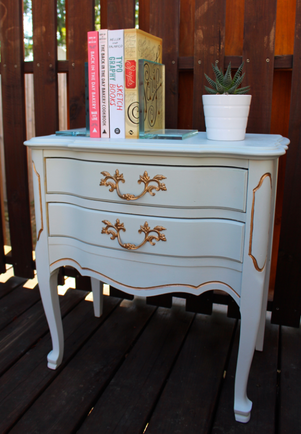 Refinished French Provincial End Table