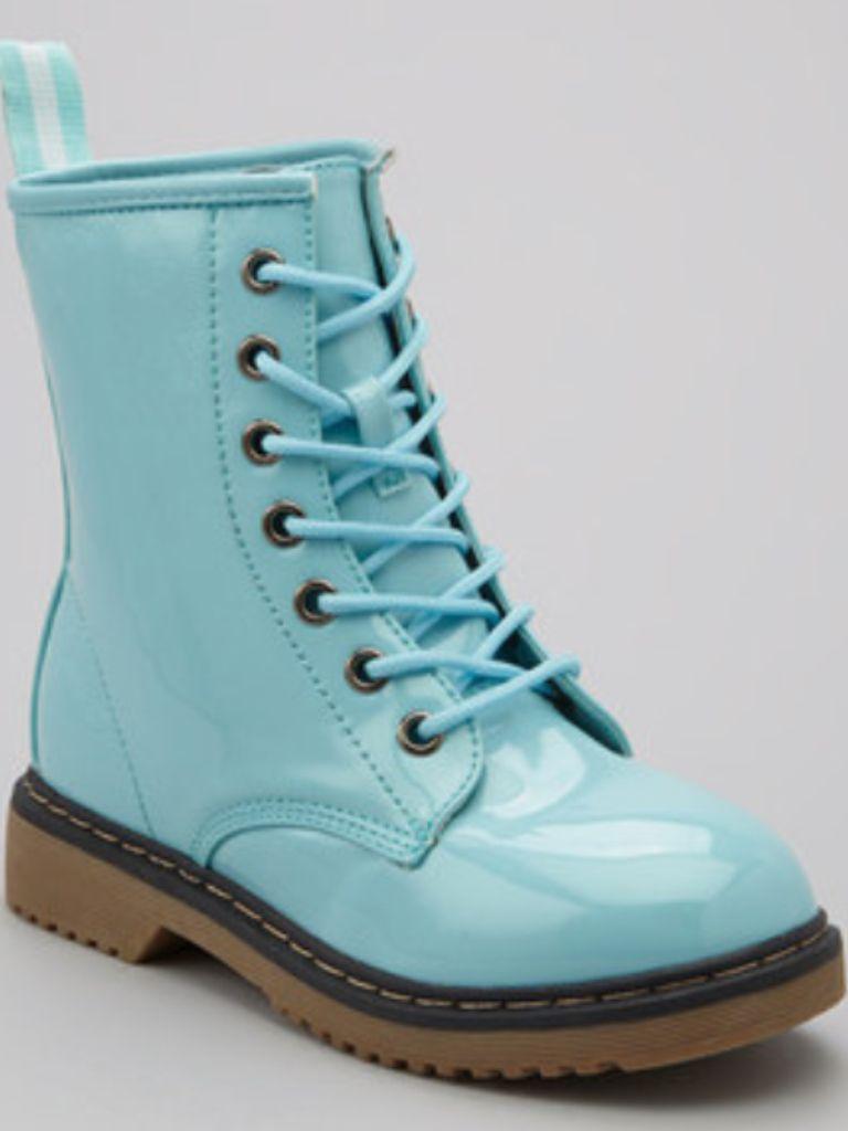 baby Blue combat boots | Boots, Combat