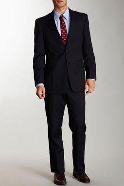 Tommy Hilfiger Joseph Navy Slim Stripe Two-Piece Suit