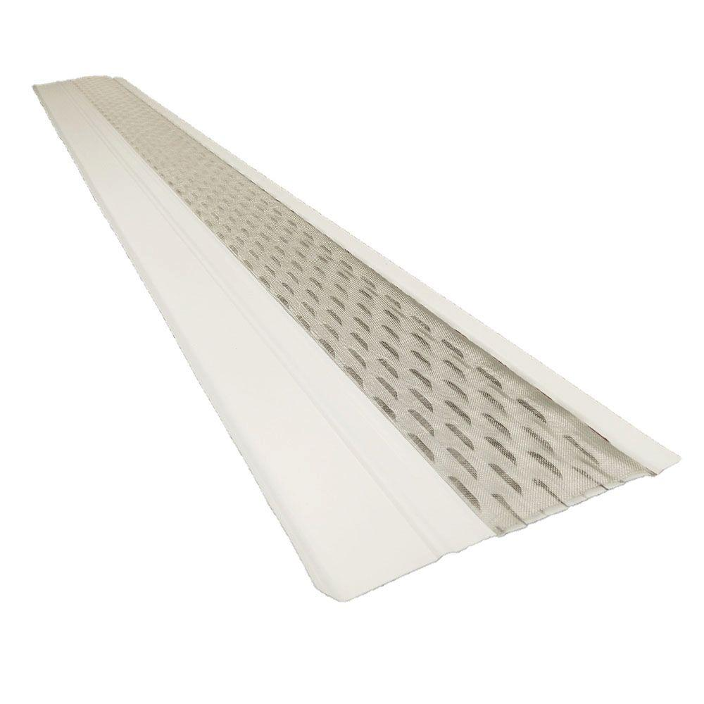 Gibraltar Building Products 4 Ft X 6 In Clean Mesh White Aluminum Gutter Guard 25 Per Carton In 2020 Gutter Guard Gutter Gutter Screens
