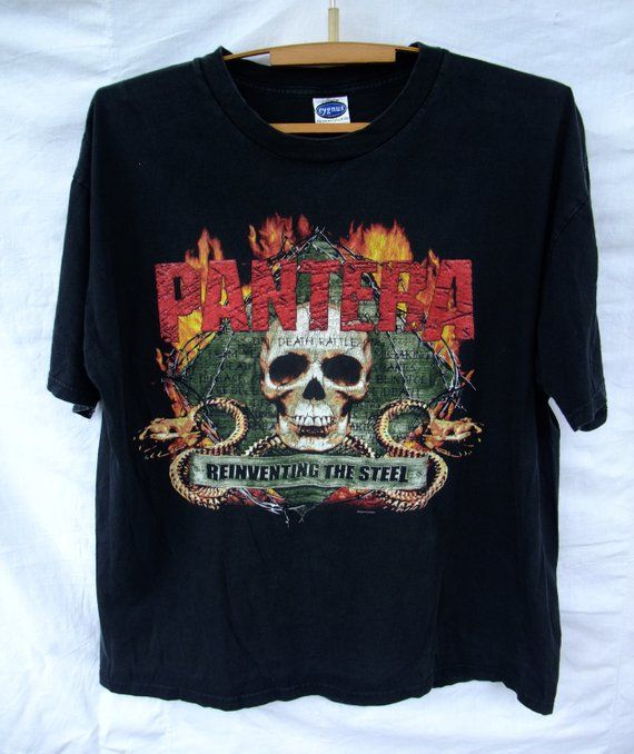 84a1cc0a5e92 vintage 2000 Pantera Reinventing The Steel Tour T-Shirt slayer iron maiden black  sabbath metallica m