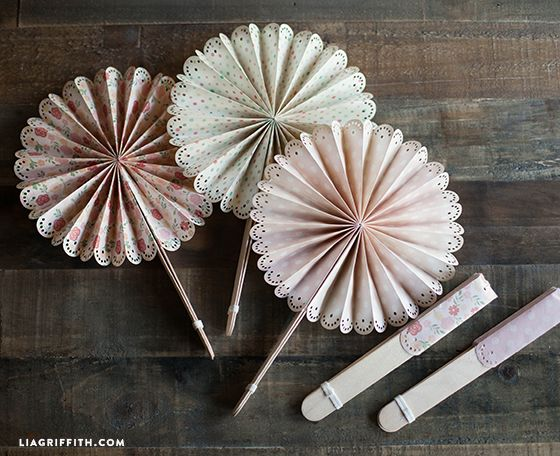 DIY Paper Fans for Your Wedding or Summer Event
