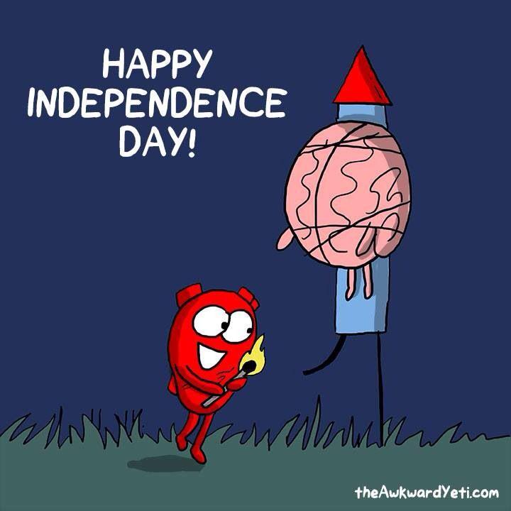 Happy 4th July post from The Awkward Yeti comics http://theawkwardyeti.com