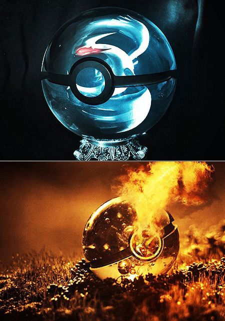 This is what a pokeball would look like in real-life.