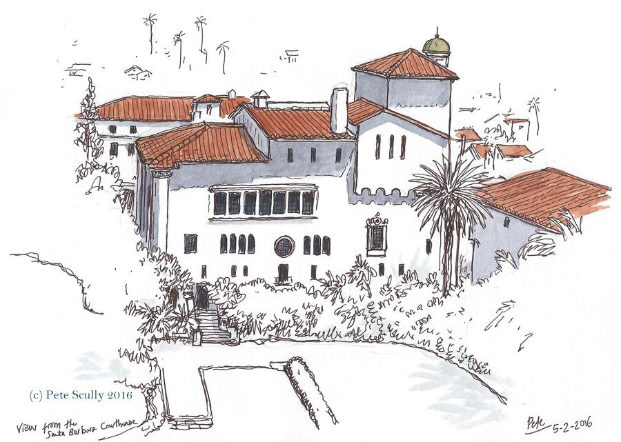 View from Santa Barbara Courthouse Tower | 출처: petescully