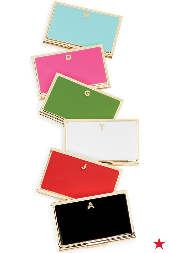 A cute idea for coworker gifts, kate spade new york monogram card ...