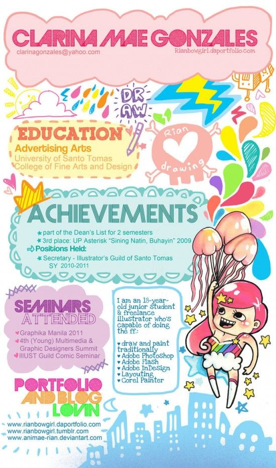 curriculum vitae | Creative portfolio - Creative curriculum ...