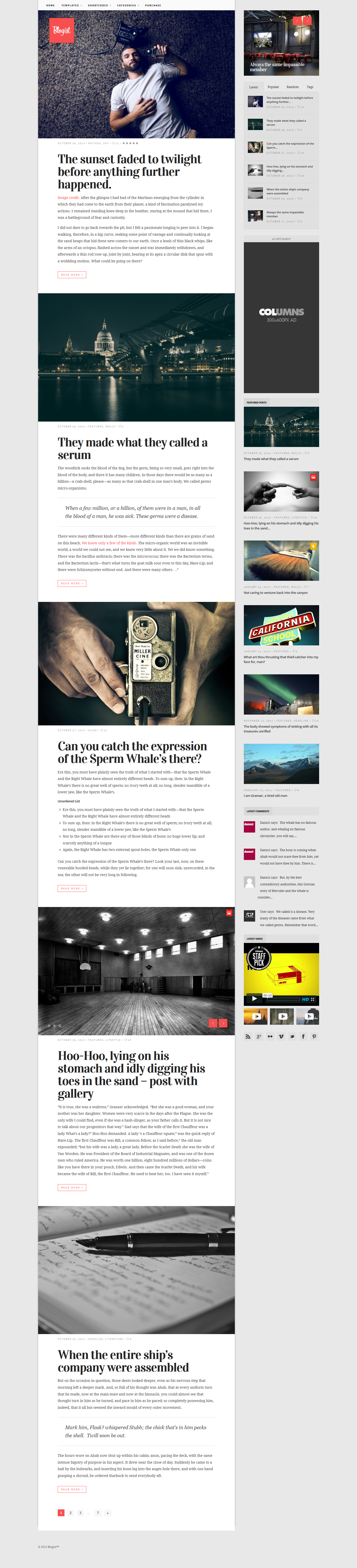 Blogist - Personal Blog theme • Download ➝…