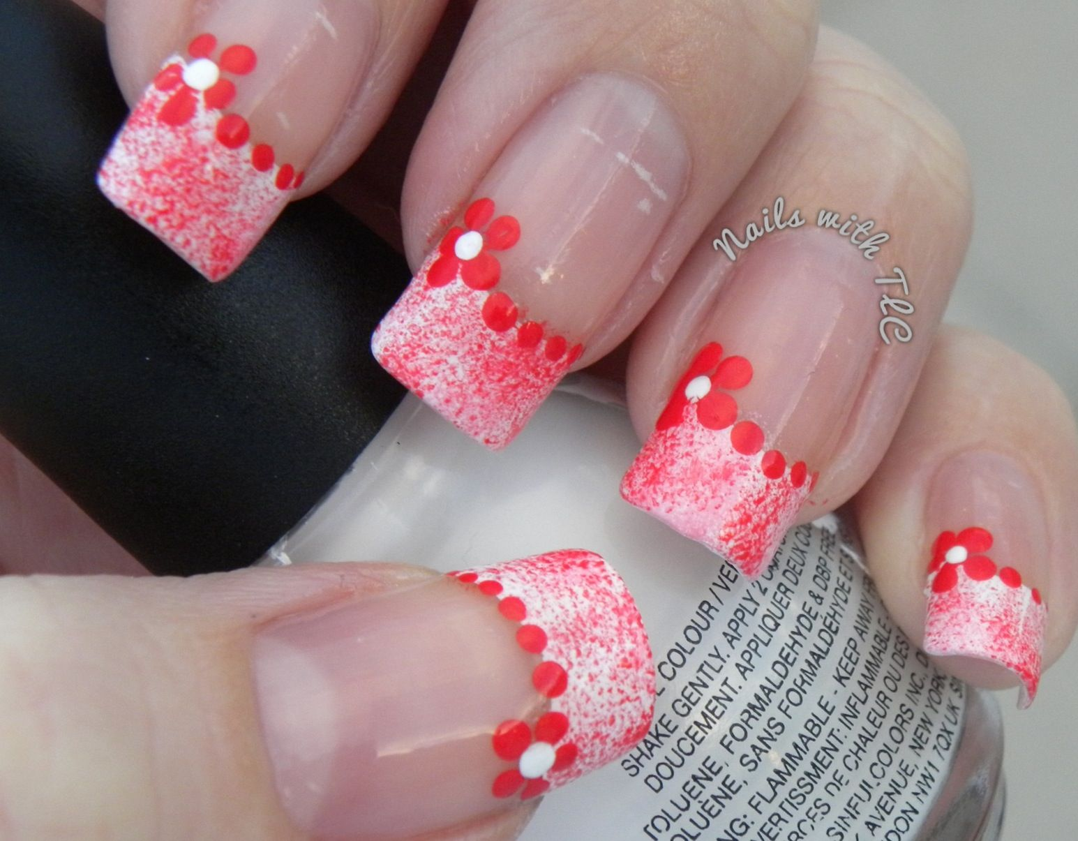 """""""Simple Valentine Flower Design"""" nail art by Tawnee L. Cordova.     Follow me on Pinterest and Facebook for NEW Designs every week!"""