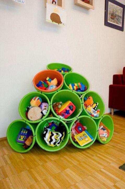Idee für Spielzeug Aufbewahrung | raumen | Kids playroom storage ...
