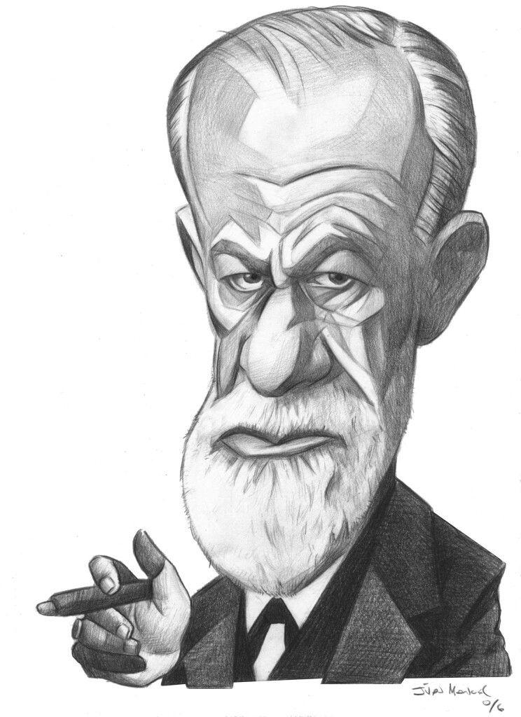 #SigmundFreud en 2019 | Caricaturas, Caricaturas de ...