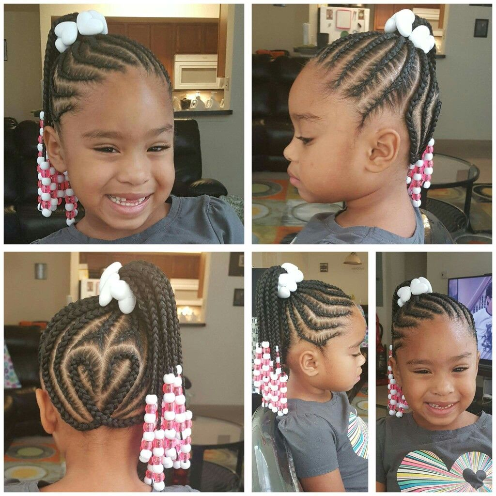 Heart Braids Braids For Kids Kids Hairstyles Black Kids Hairstyles