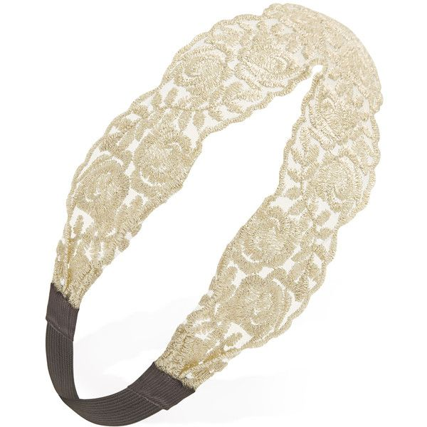 FOREVER 21 Glitter Rose Lace Headband (5.23 AUD) liked on ...