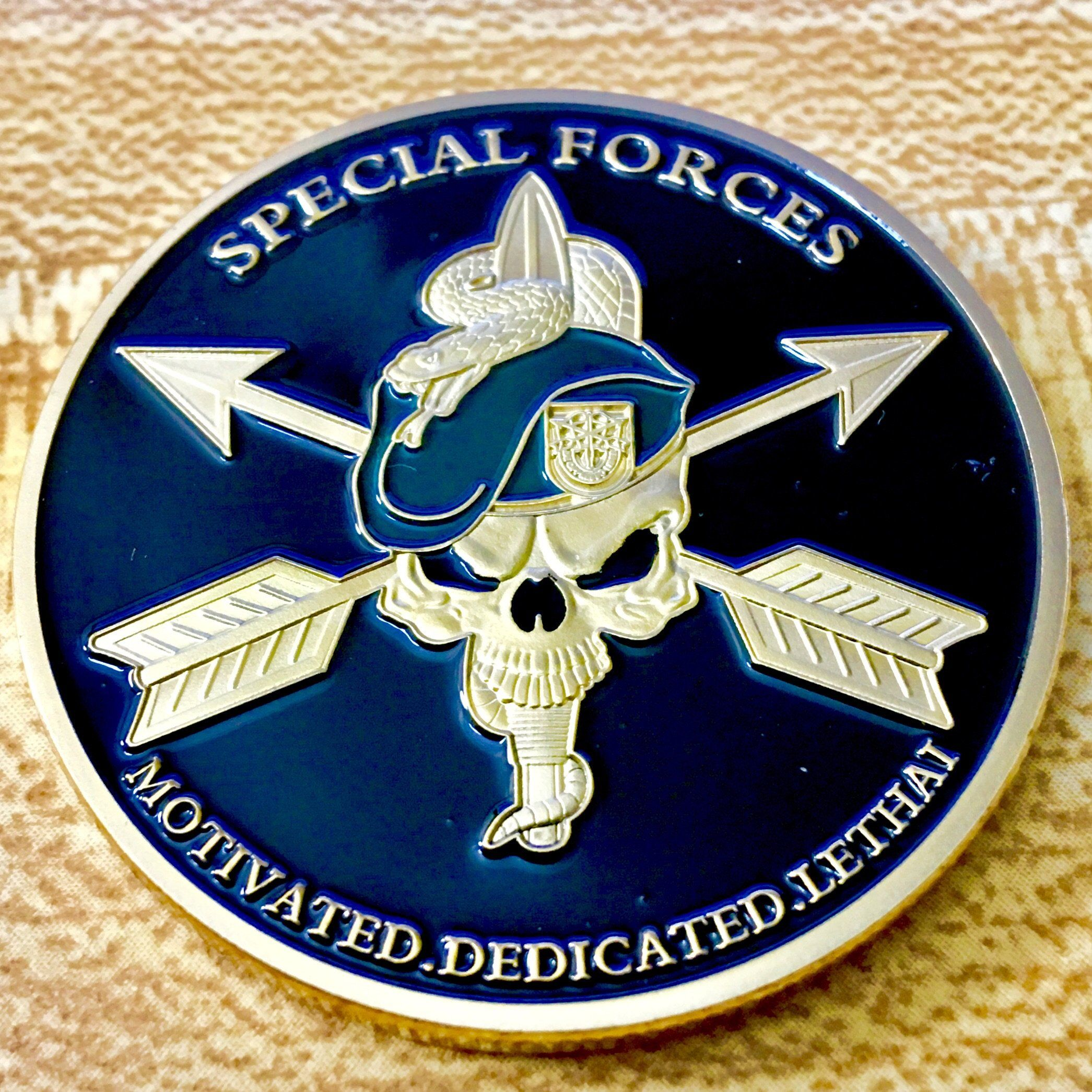 United States Army Special Forces Challenge Coin Special