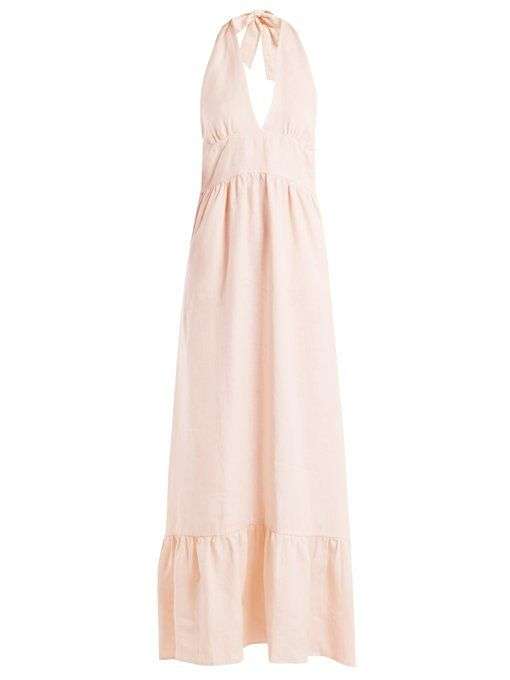 Sale Factory Outlet Low Price Fee Shipping Sale Online Farrah linen hatlerneck dress Loup Charmant Buy Cheap Supply Cheap Price Top Quality 5p90zQG