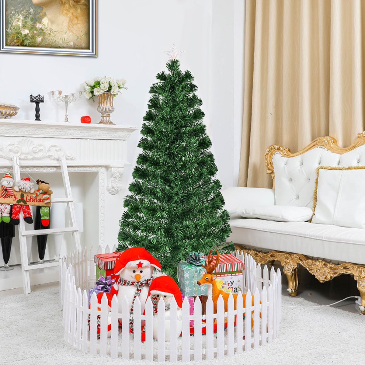 5' / 6' Fiber Optic Artificial Christmas Tree with LED