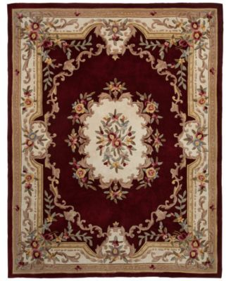 Kenneth Mink Majesty Aubusson Burgundy 2 6 X 8 Runner Rug Rugs