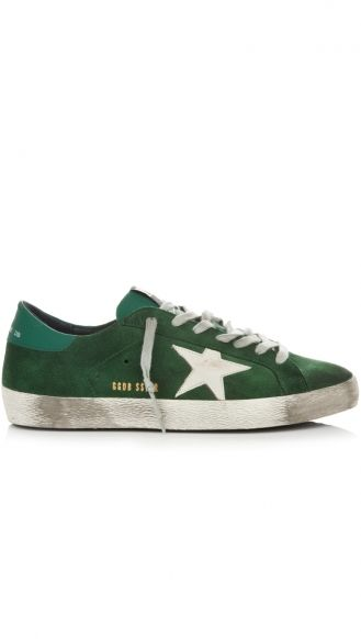 GOLDEN GOOSE DELUXE BRAND  green sneakers