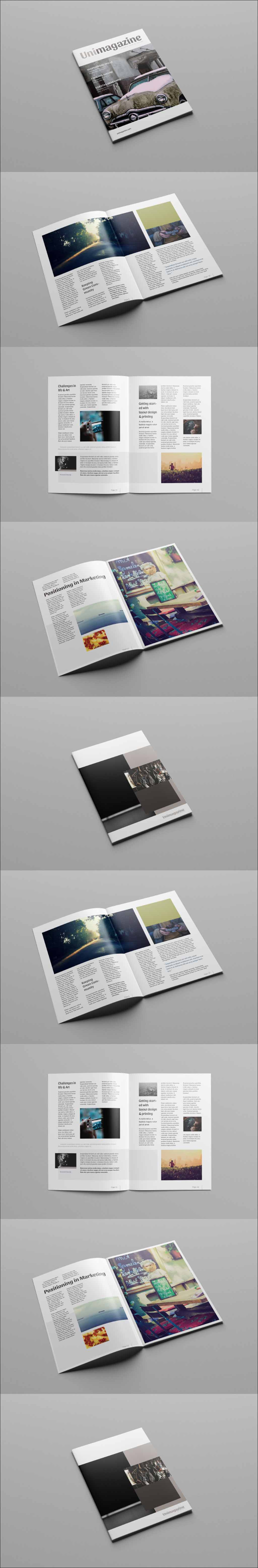 Free Psd Magazine Brochure Template A  Column Grid Magazine