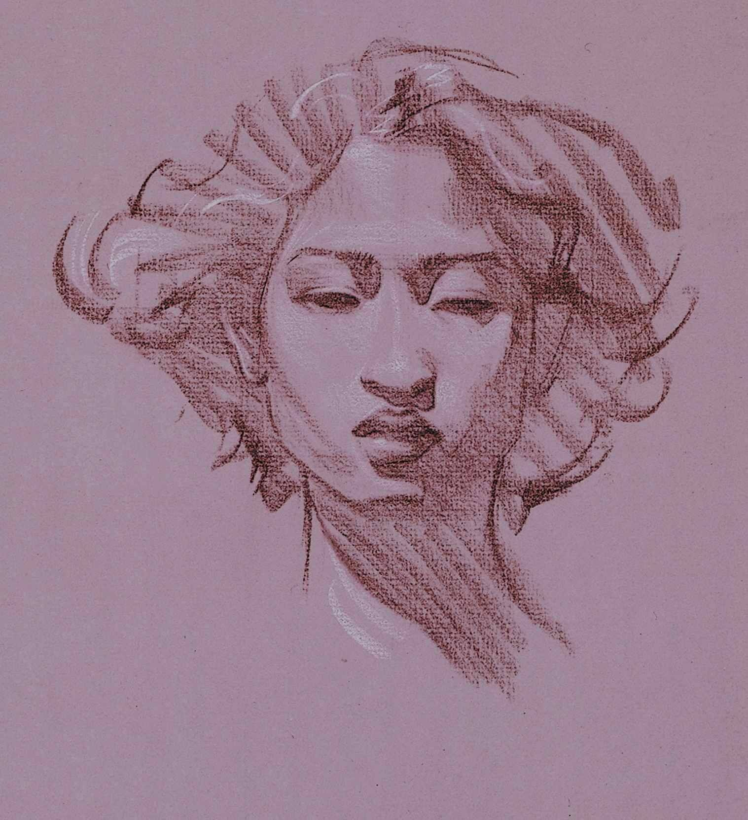 Steve Huston I Like The Design In Her Face With Images Drawings Figure Drawing Drawing Sketches