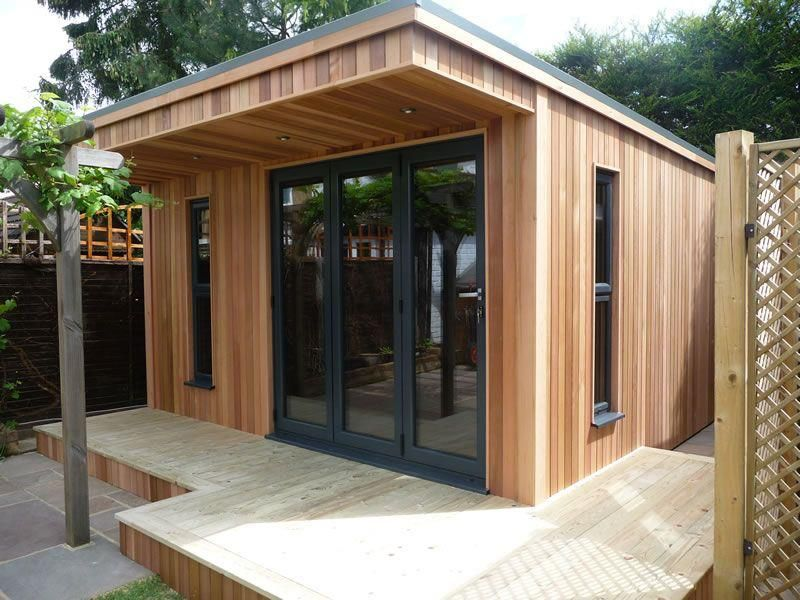 Garden offices working from your shed studio sheds for Timber garden rooms