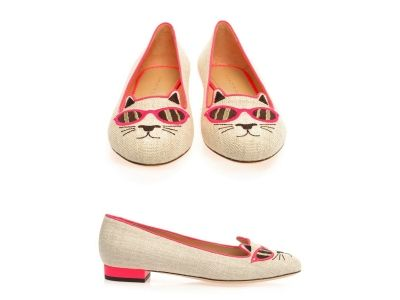 Sunkissed Kitty flats(Charlotte Olympia)