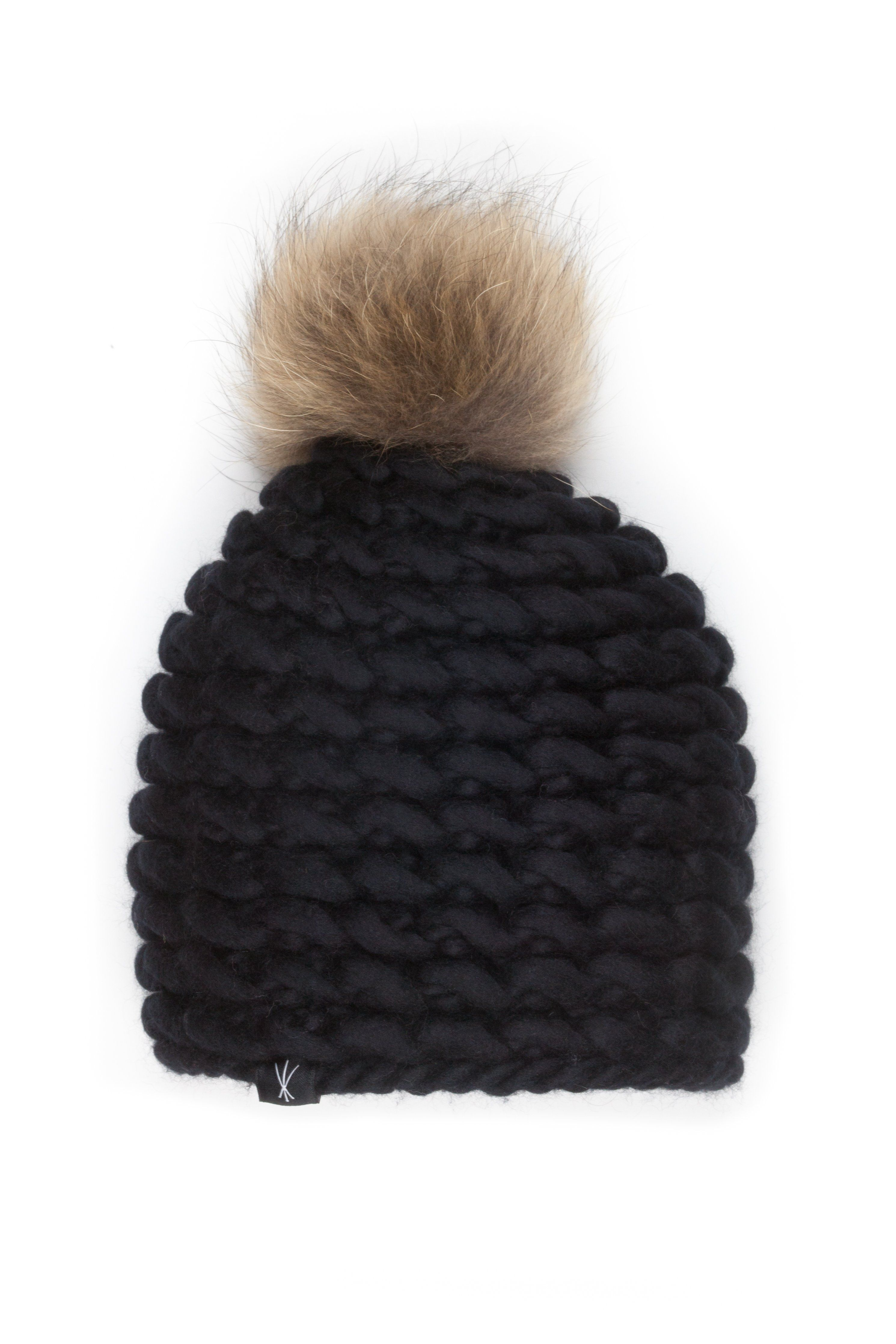 c2937866478 The Noho - Fitted Beanie w  Fur Pom in Carbon