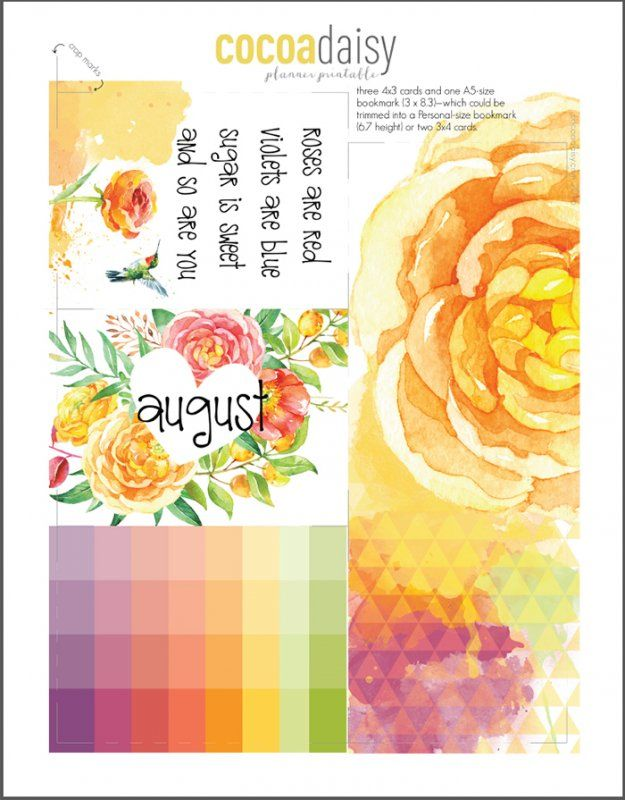 FREE 2016 August Planner Printables