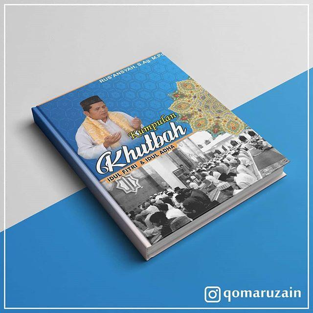 Desain Cover Buku Kumpulan Khutbah Idul Fitri & Idul Adha