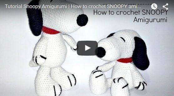 Amigurumi Tutorial Snoopy : Schema per snoopy amigurumi u2013 video tutorial cucito creativo