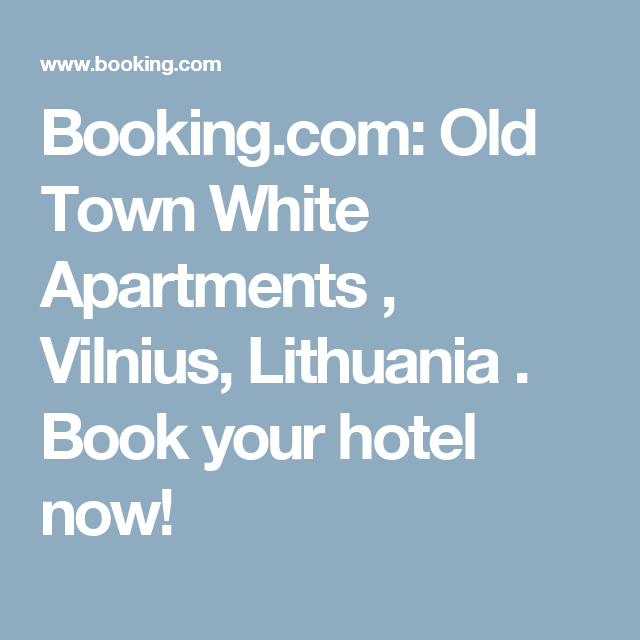 Booking.com: Old Town White Apartments , Vilnius, Lithuania . Book your hotel now!