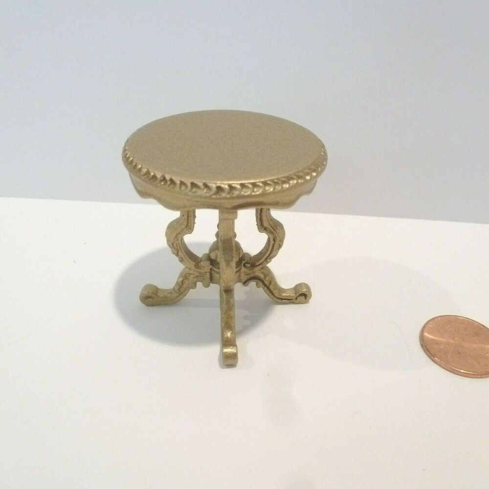 Details About 1 12 Scale Dollhouse Miniature Black Round Side