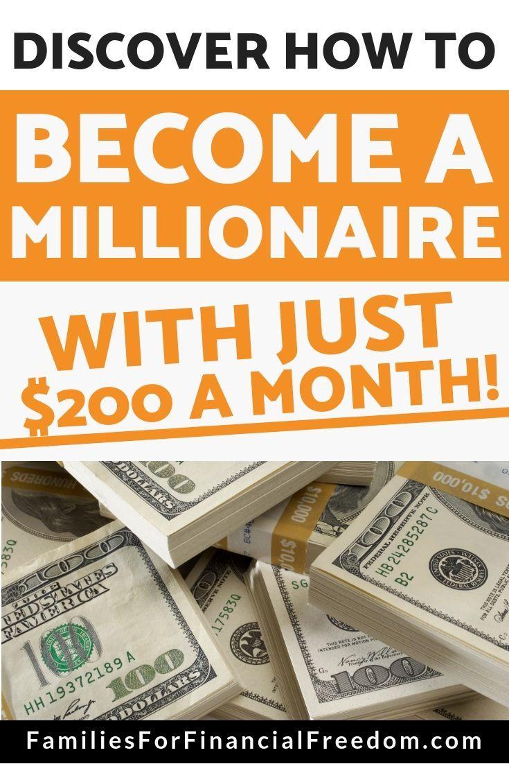 Werden Sie Millionär und investieren Sie nur 200 US-Dollar pro Monat